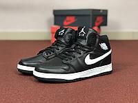 Мужские кроссовки Nike Air Jordan 1 Retro,черно-белые, фото 1