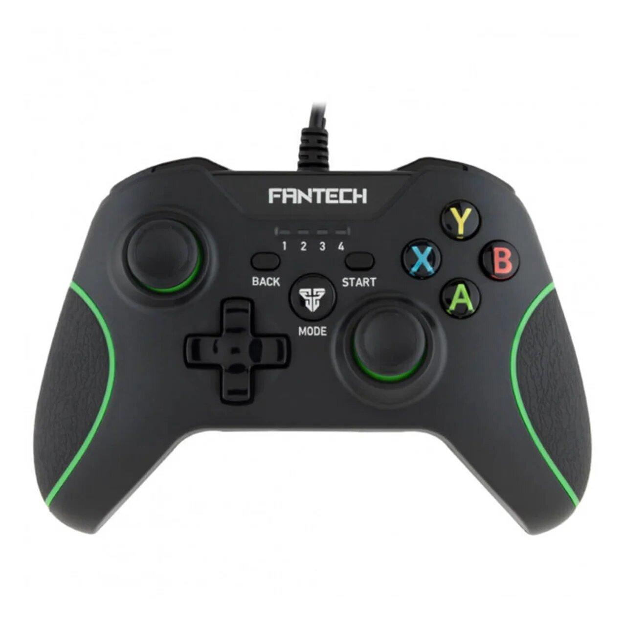 Геймпад ігровий джойстик з вібровіддачею Fantech Shooter GP11 Black/Green (4076-11915)