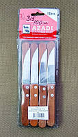 Нож кухонный 17 см, деревянная ручка, в блистере 12 шт