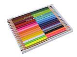 Карандаши цветные триугольные двухсторонние 18штук, 36 цветов Colorino (68512PTR), фото 3
