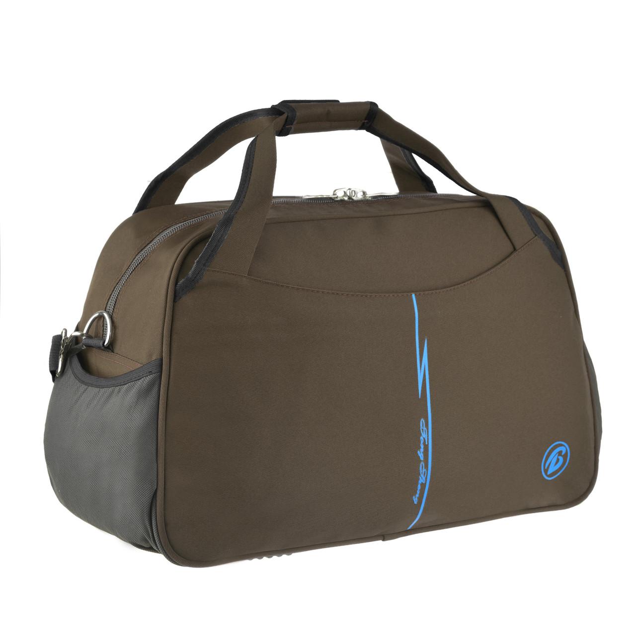 Дорожная сумка Tong Scheng  52х33х26 ткань нейлон коричневая   кс99210кор