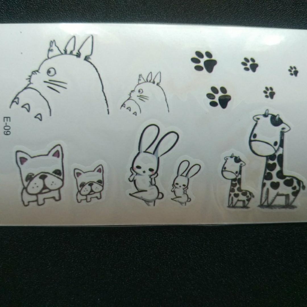 Флеш тату животные, временная татуировка, временные татуировки на тело, временный рисунок на тело