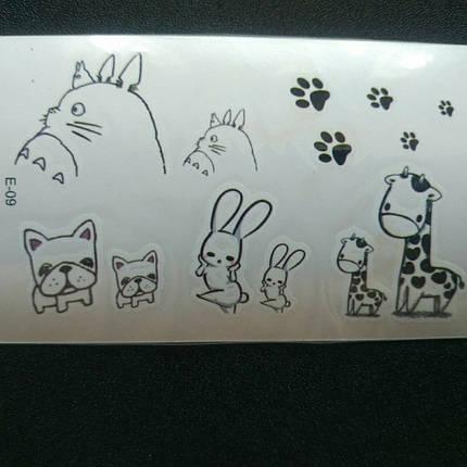 Флеш тату животные, временная татуировка, временные татуировки на тело, временный рисунок на тело, фото 2