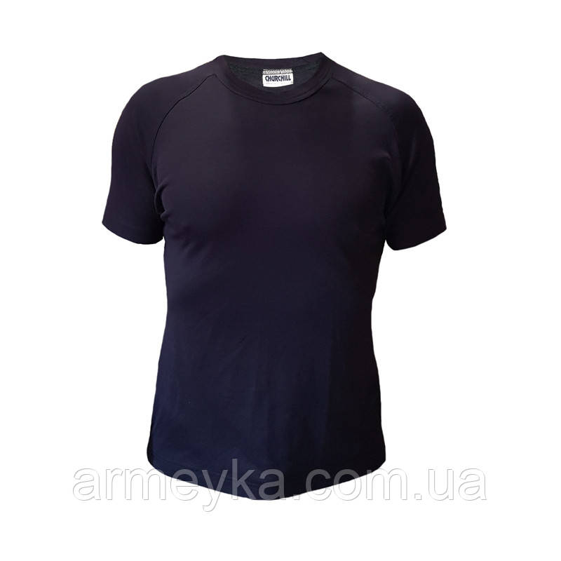 Потоотводящая футболка CoolMax, темно-синяя. Великобритания, оригинал.