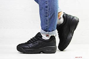 Зимние кроссовки Fila Disruptor Yalor,черные