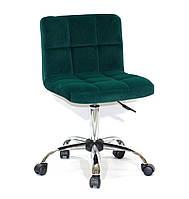 Офисный стул Арно ARNO CH-OFFICE зеленый бархат на колесиках