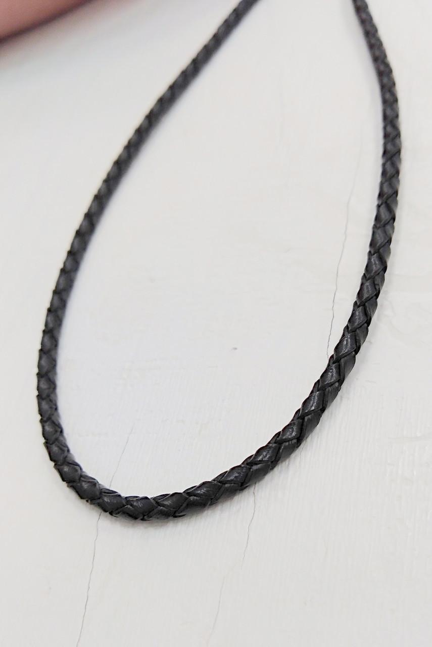 Кожаный шнурок с золотой застежкой