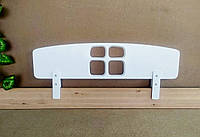 """Быстросъемный защитный бортик из натурального дерева """"Домик"""" белый 100 см."""