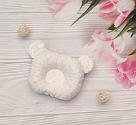Подушка ортопедическая для новорожденного с ушками Плюш Минки Польша