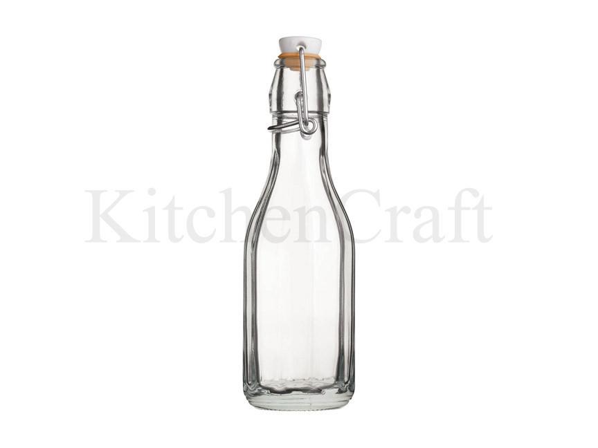 Бутылка стеклянная с керамической пробкой и зажимом 500мл (26см), Kitchen Craft  - купить со скидкой