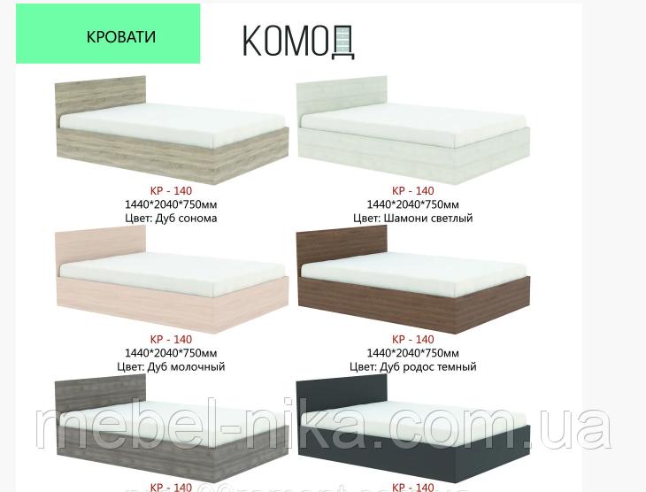 Кровать КР-140 ЩИТ