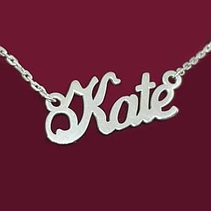 Срібне кольє з ім'ям Kate