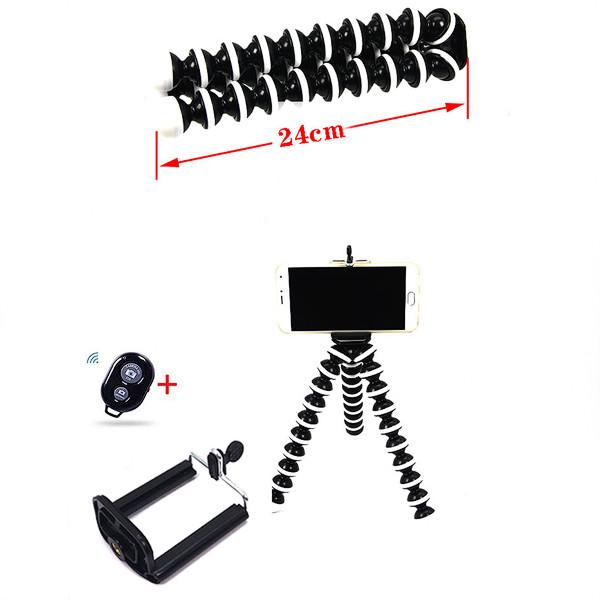 Гибкий штатив  для мобильного телефона  и фотокамеры GORILLAPOD GP-3 + держатель телефона + Bluetooth пульт.