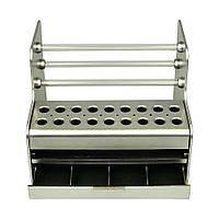 Настольный органайзер для инструментов с ячейками  PL-1, пластиковый, шгв 20 x 17 x 17 см