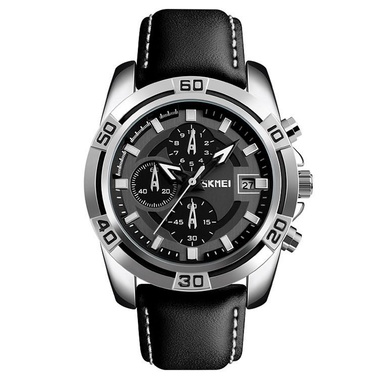 Skmei 9156 avalon черные мужские классические часы