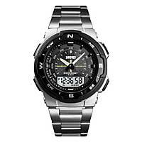 Skmei 1370 marshal  серебристо черные мужские спортивные часы