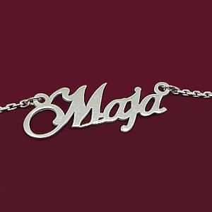 Серебряное колье с именем Maja
