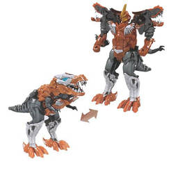Детская игрушка робот-трансформер динозавр Тираннозавр Maya Toys 18 см, коричневый