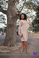 Свободное платье больших размеров на осень