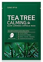 Успокаивающая ампульная маска для лица Some by mi Tea Tree Calming Glow Luminous Ampoule Mask 25 мл, фото 1