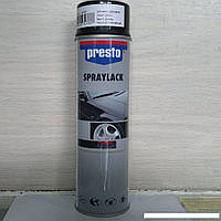 Аэрозоль Presto  чёрный глянец  500мл