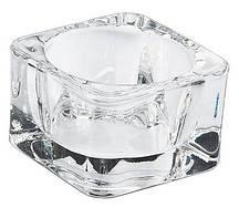 Подсвечник стеклянный для чайной свечи 1шт