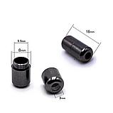 Шнурки для обуви эластичные черные с металлическими фиксаторами черными 2Life две пары в комплекте (n-526), фото 4