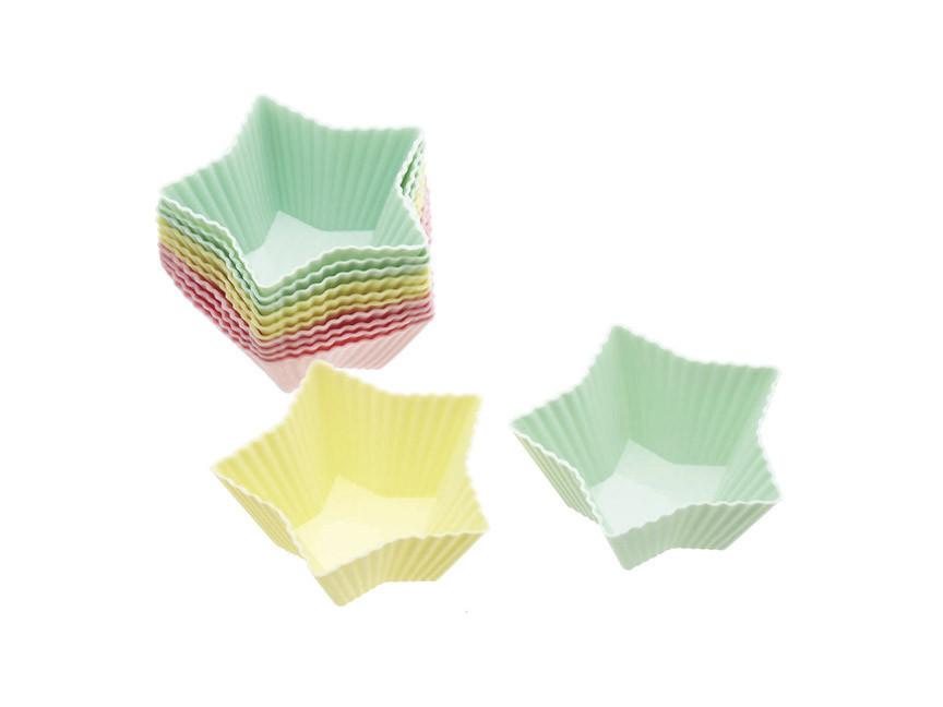 Купить SDI Формы для кексов Звезда силиконовые 7см 12 единиц, Kitchen Craft