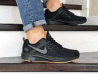 Мужские текстильные кроссовки Nike Run shield,черные, фото 1