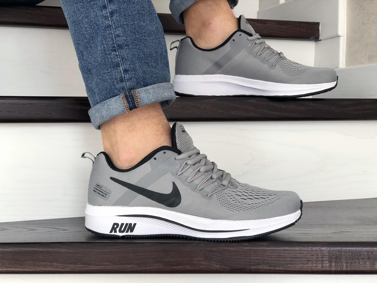 Мужские текстильные кроссовки Nike Run shield,серые