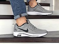 Мужские текстильные кроссовки Nike Run shield,серые, фото 1