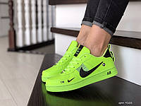 Подростковые (женские) кроссовки Nike Air Force,салатовые, фото 1
