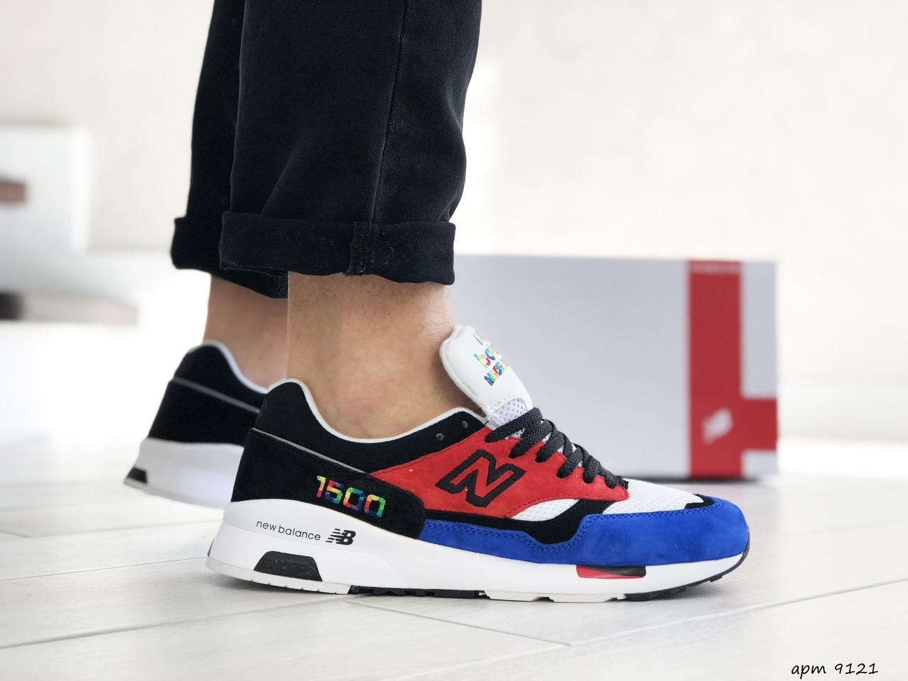 Мужские кроссовки New Balance 1500,красные с синим