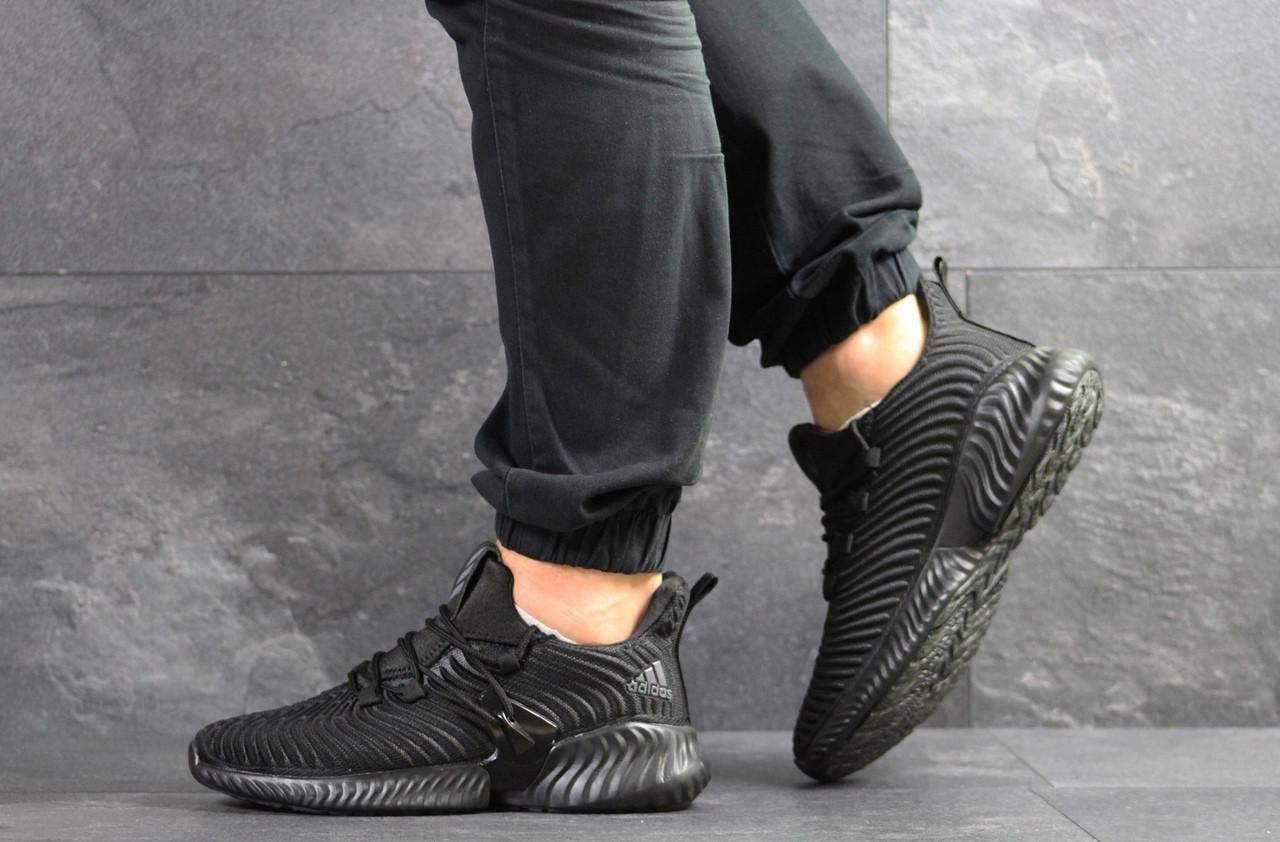 Мужские кроссовки Adidas,текстиль,черные