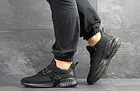 Мужские кроссовки Adidas,текстиль,черные, фото 1