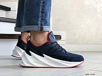Мужские модные кроссовки Adidas Sharks,темно синие с белым, фото 1