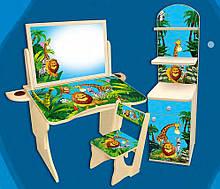 """Комплект """"Мадагаскар"""" парта и этажерка. Также можно покупать отдельно."""
