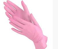 Перчатки нитриловые Medicom M неопудренные текстурированные  50 пар Розовые (MAS40017)