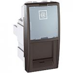 Розетка компьютерная не экранированная (1 модуль) графит Schneider Electric - Unica (mgu3.410.12), фото 1