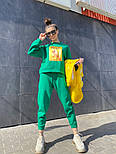 Женский утепленный спортивный костюм из футера с принтом 7105886, фото 6