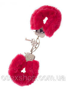 Наручники,Metal Handcuff with Plush, RED