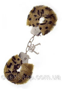 Наручники, Metal Handcuff with Plush, LEOPARD