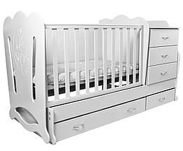 """Детская кроватка-трансформер """"Соня"""" 3 в 1 Angel baby"""