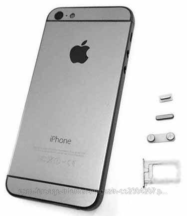 Крышка задняя iPhone 5S подобно 6G Gray (New Version)