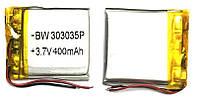 Аккумулятор универсальный 303035P 3 cm х 3.5 cm 3.7v 400 mAh