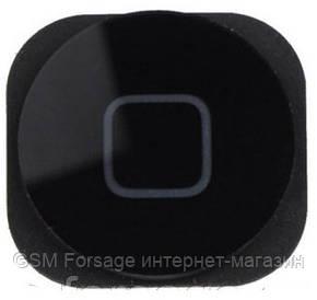 Шлейф iPhone 5 центральная кнопка + пластик Black