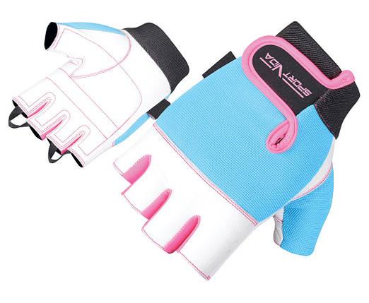 Перчатки для фитнеса SportVida SV-AG00039 (M) White, фото 2