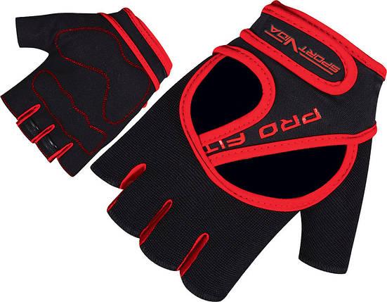 Перчатки для фитнеса SportVida SV-AG0009 (XXL) Black, фото 2