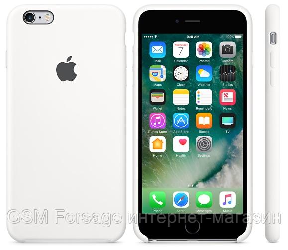 Чехол (Silicone Case) для iPhone 6 plus / iPhone 6S Plus White