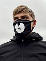 Защитные маски чёрный Мишка носик